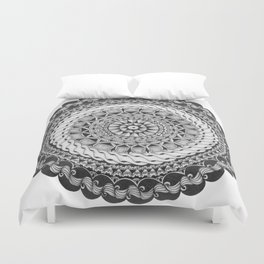 Zendala - Zentangle®-Inspired Art - ZIA 39 Duvet Cover