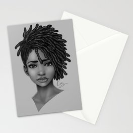 Locs style Stationery Cards