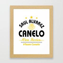 Canelo Shirt Framed Art Print