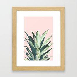 Pineapple on Blush Pink Framed Art Print