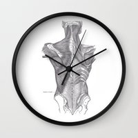 anatomy Wall Clocks featuring Anatomy by PSimages