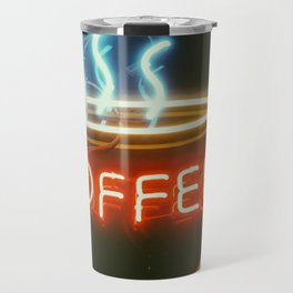 Coffee Shops and Neon Lights Travel Mug
