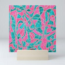Scrawled shapes ornament Mini Art Print