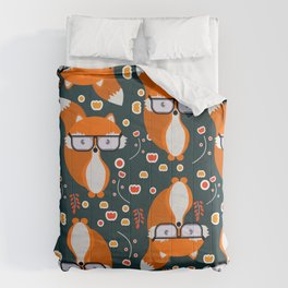 Hipster foxes Comforters