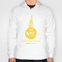 nyc Hoodies featuring NYC by Kathryn Twirls
