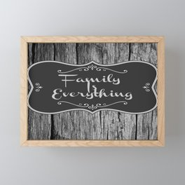 Farmhouse Art | Family Is Everything Farmhouse Decor Framed Mini Art Print