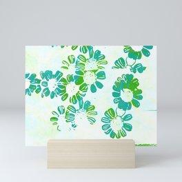 makenzie: floral tie dye, green Mini Art Print