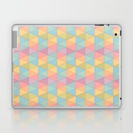 art colour lines triangle look rest eyes color new artist fun mixed pattern sweet cover case skin ip Laptop & iPad Skin