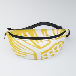 White flower Fanny Pack