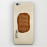 kendrick lamar iPhone & iPod Skins featuring Kendrick Lamar; What Rappers Say Series 7/8 by Jaron Lionel