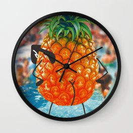 Behind the pool party Wall Clock