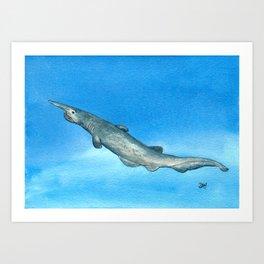 Goblin Shark Art Print