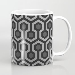The Overlook Hotel - Carpet Pattern - Grayscale Coffee Mug