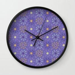 Flower Bloom Petals Vector Pattern Wall Clock