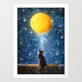 A Yarn of Moon Art Print