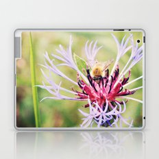 Spring Time Bumble Bee on a Purple Flower Laptop & iPad Skin