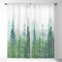Pine Trees 2 Sheer Curtain