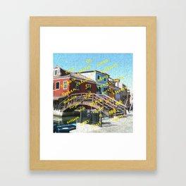 Burano 3 yellow Framed Art Print