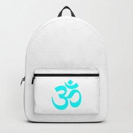 Cyan Hindu Om Symbol  Backpack