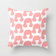Pink Bouffants Throw Pillow