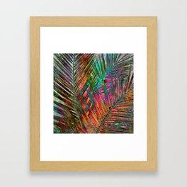 Multicolor Palm Leaves Framed Art Print