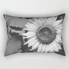 Sunflower Black And White 2 Rectangular Pillow