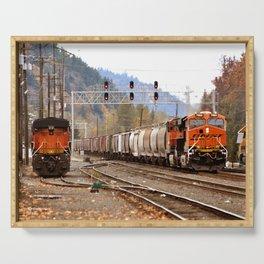 TRAIN YARD Serving Tray