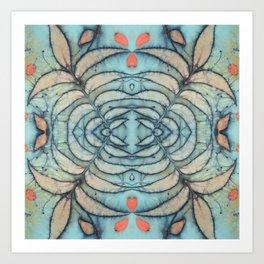 Blue Sky through the Pecan leaves Art Print