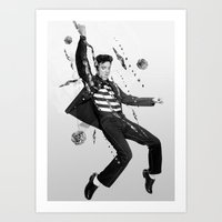 elvis presley Art Prints featuring Elvis Presley by Michael Ostermann