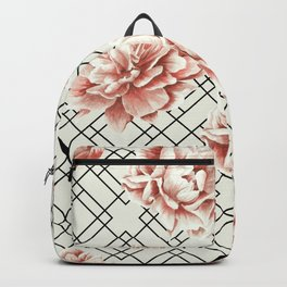 Simply Mod Diamond Roses in Cream and Black Backpack