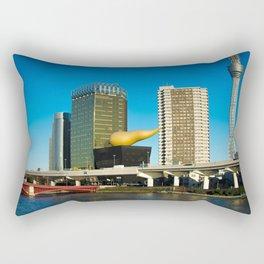 Giant Beer & The Golden Turd Rectangular Pillow