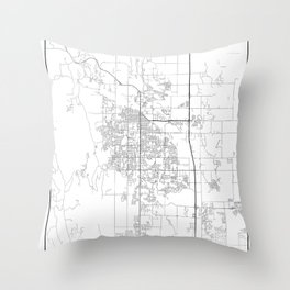 Minimal City Maps - Map Of Fort Collins, Colorado, United States Throw Pillow