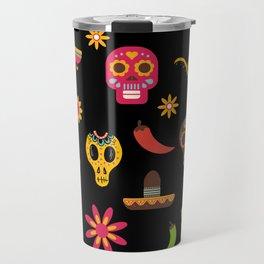 Dia de los muertos - Day of the Dead Travel Mug