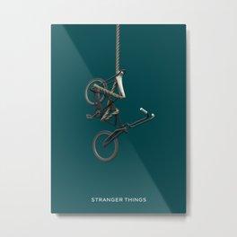 Stranger Bicycle Metal Print