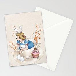Tea Time in Wonderland Stationery Cards