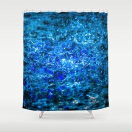 Water Color - Dark Blue - Navy Shower Curtain