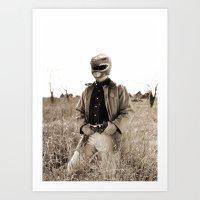 power ranger Art Prints featuring Power Texas Ranger by Bakus