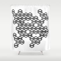 rare Shower Curtains featuring Rare Work Network by Rare Work