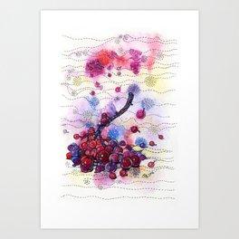 Wnter Berries Art Print