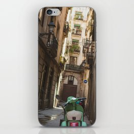 Scooter in Barcelona iPhone Skin