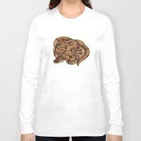 monty python Long Sleeve T-shirts featuring Ball Python by Cargorabbit