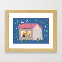 home sweet home Framed Art Print