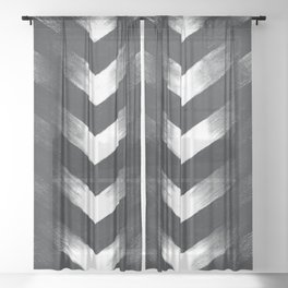 Charcoal Point Sheer Curtain