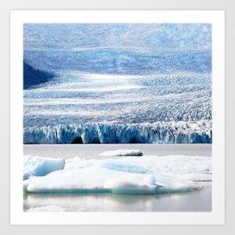 Watercolor of a Glacier in Iceland Art Print