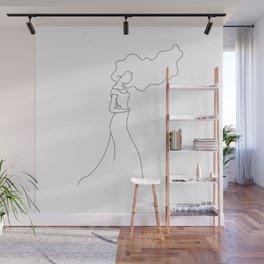 Drifted line design Wall Mural
