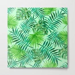 Botanical Tropics Pattern Metal Print