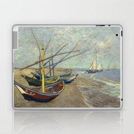 Fishing boats on the beach at Les Saintes-Maries-de-la-Mer Laptop & iPad Skin