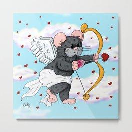 Cupid Hamster Metal Print