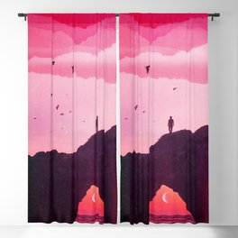 Roseate Days Blackout Curtain
