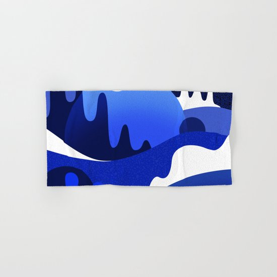 Terrazzo landscape blue night by sylvaincombe